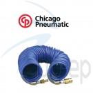 Spiralschlauch aus Polyethylen (PE) 8 Meter Arbeitslänge mit Euro- Nippel und Kupplung