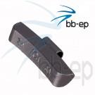 Universal- Schlaggewicht für Stahlfelgen silberfarbig beschichtet - Wuchtgewicht 30 Gramm 100 Stück